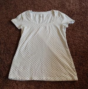 Philosophy by republic white t-shirt w/black dots